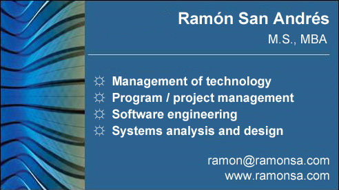 Ramon San Andres business card